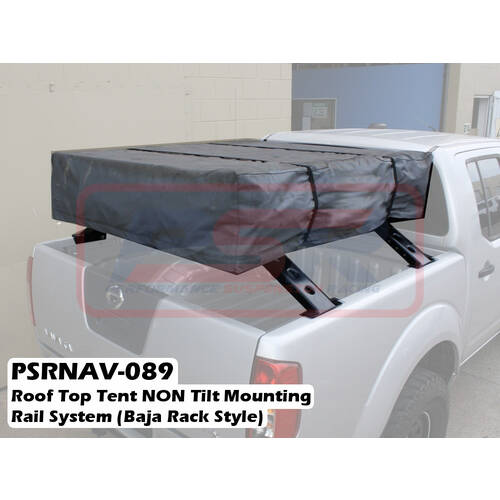 roof top tent non tilt mounting rail system baja rack style