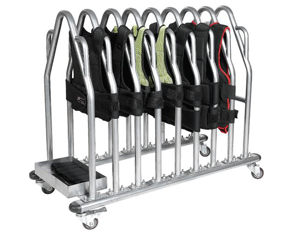 weight vest rack with wheels