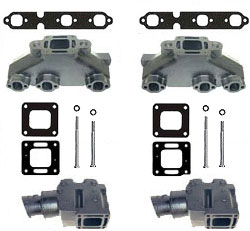 mercruiser 4 3l v6 cast iron exhaust