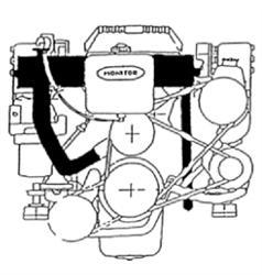 Mercruiser 1985-1997 4.3L V6 with V Belts *High Capacity