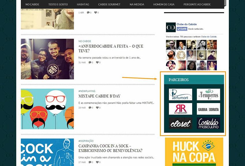 Perfumart - post Clube do Cabide