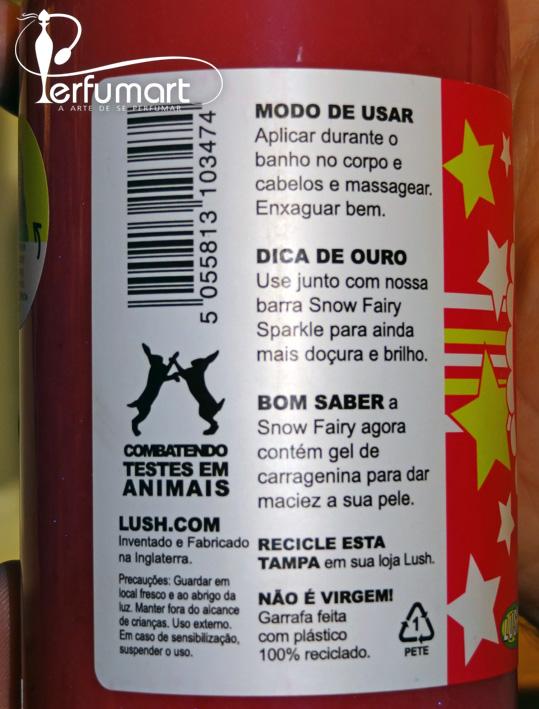 Perfumart - Lush SPA Detalhes do frasco
