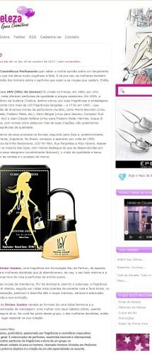Perfumart – Na mídia Papo de Beleza