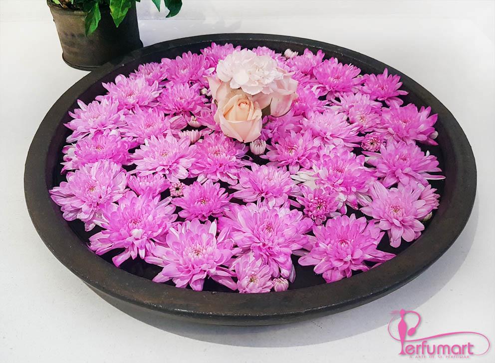 Perfumart - post Coleção Alzahra bandeja-flores