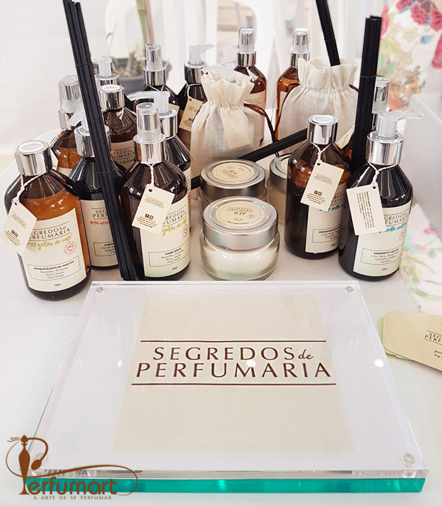Perfumart - post Segredos de Perfumaria placa