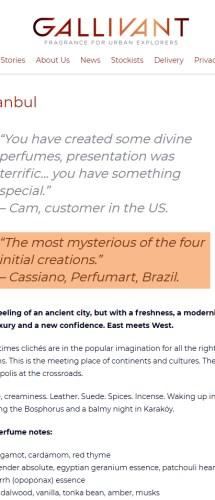 Perfumart – Na mídia Gallivant Istanbul