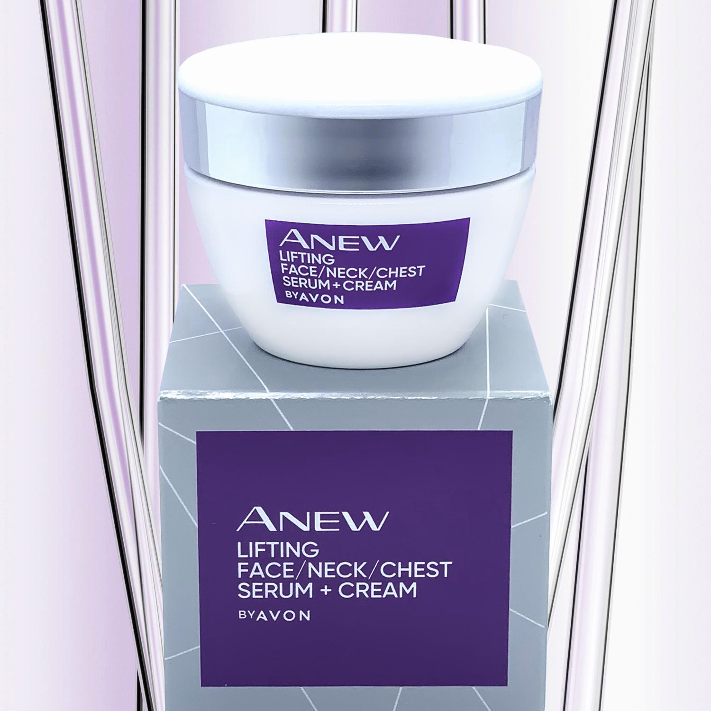 Avon Anew Lifting Face / Neck / Chest Serum + Cream