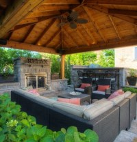 Backyard Gazebo with Fireplace | Pergola Gazebos