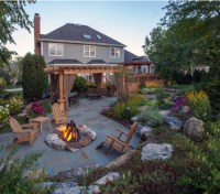Backyard Pergola Fire Pit | Pergolas / Gazebo
