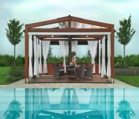 Wooden Deck Pergola for Swimming Pool | Pergola Gazebos