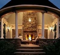 A Beautiful Gazebo Fireplace Ideas   Pergola Gazebos