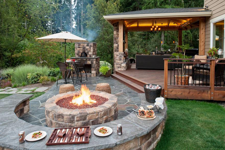 outdoor fire pit ideas pergola gazebos
