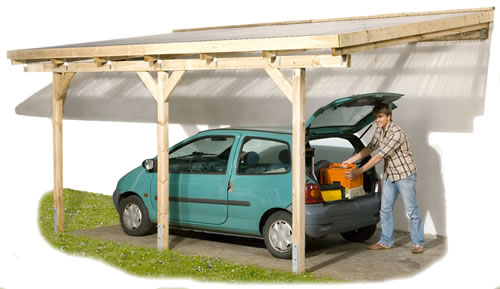 Attached Lean To Pergola