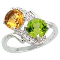Peridot White Gold Rings