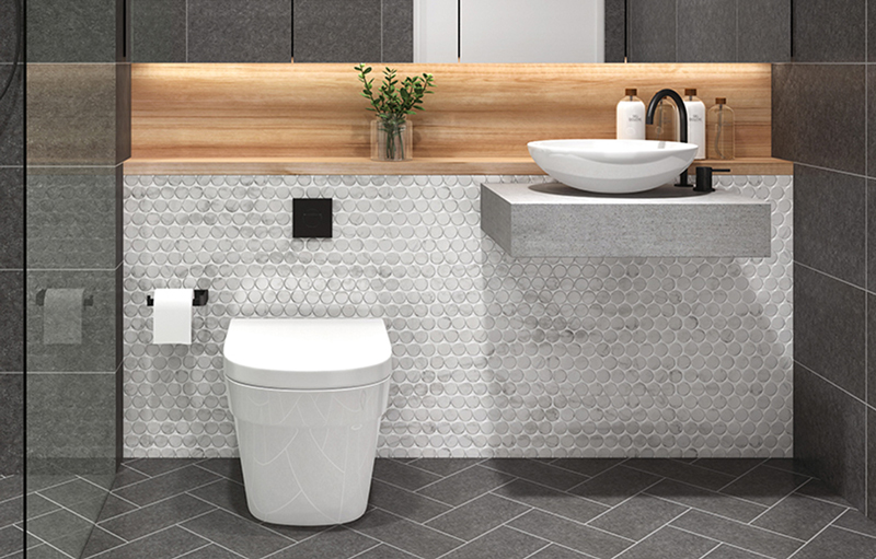 match tile sizes in your new bathroom