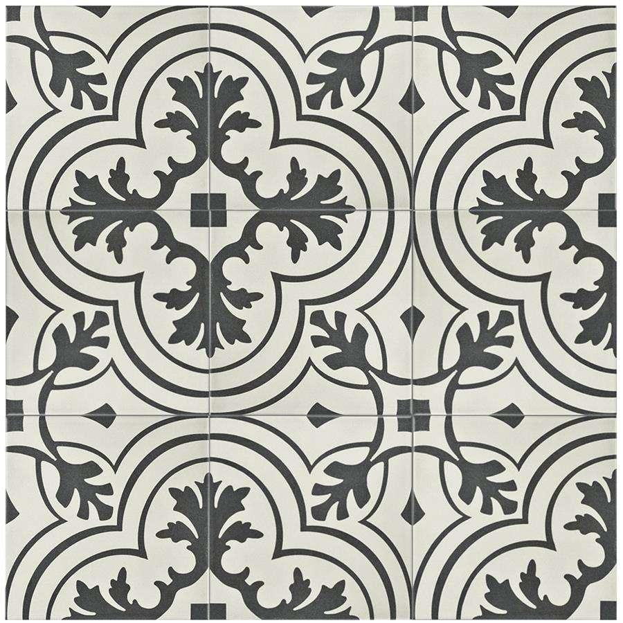twenties vintage 7 3 4 x 7 3 4 ceramic tile in deep grey white sold per tile 42 square feet per tile