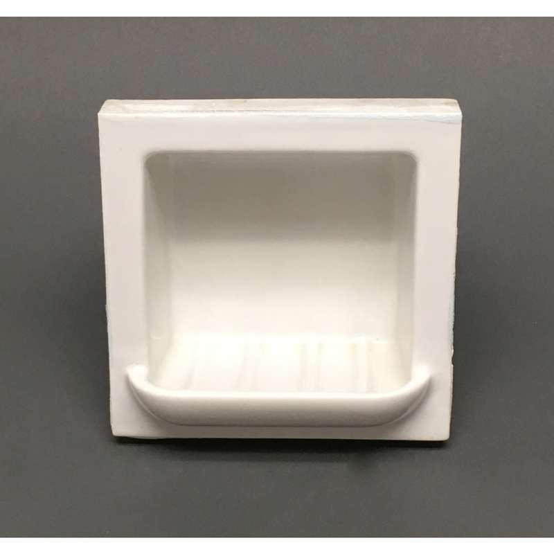 antique white porcelain tile in subway tile soap dish 6 x 6