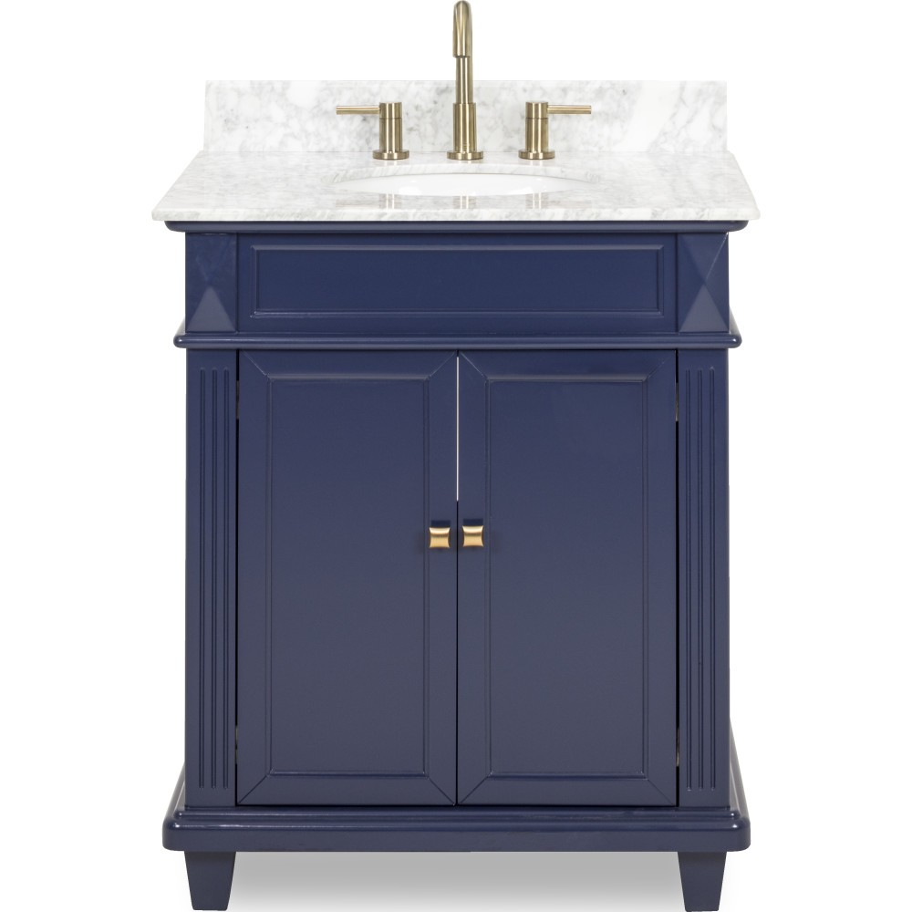 douglas by elements 30 vanity with white carrara top