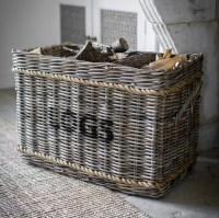 Log Basket with Rope