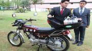 Desarrollan sistema de reactores oxihidrógeno para motocicleta que disminuye contaminación