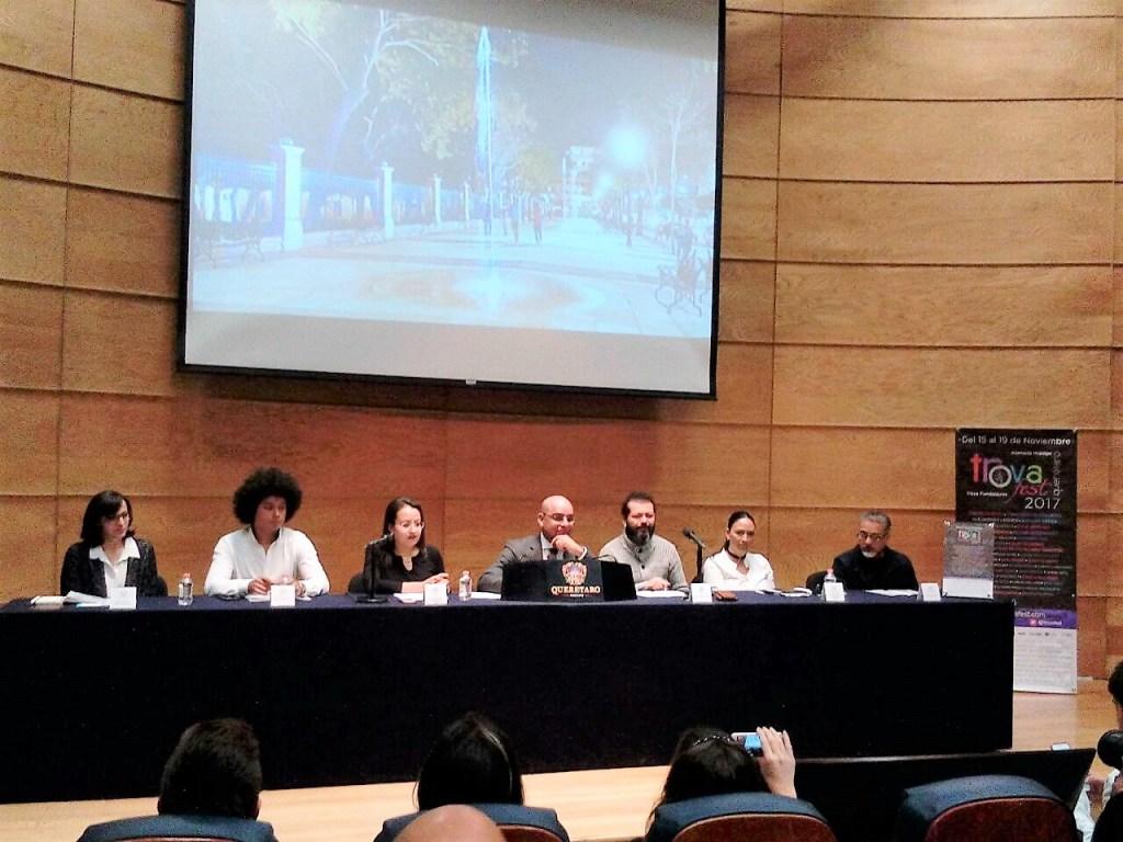 El Presidente Municipal de Querétaro, Marcos Aguilar presidió la rueda de prensa para presentar el la cuarta edición del Trova Fest.