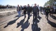 El Gobernador Francisco Domínguez supervisa avance de la obra de la carretera Querétaro-Huimilpan