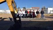 MAV da banderazo de inicio para la construcción de base de la Cruz Roja en Santa Rosa Jáuregui