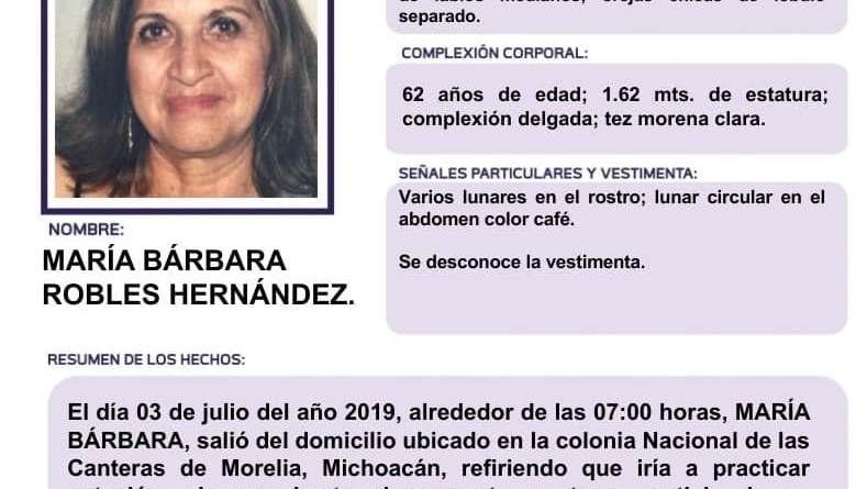 Continúa la búsqueda intensa para hallar a la doctora María Bárbara Robles