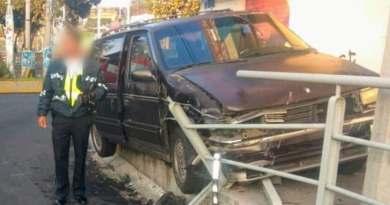 Chocan 2 camionetas en la Av. Michoacán; no hay heridos