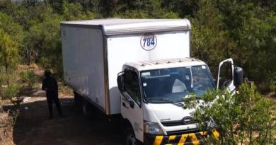 En acción operativa, localiza SSP camión con reporte de robo