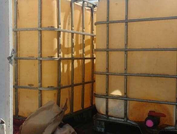 GN asegura combustible presuntamente robado y un camión, en el municipio de Morelia