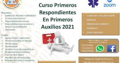 Curso de Primeros Auxilios 2021