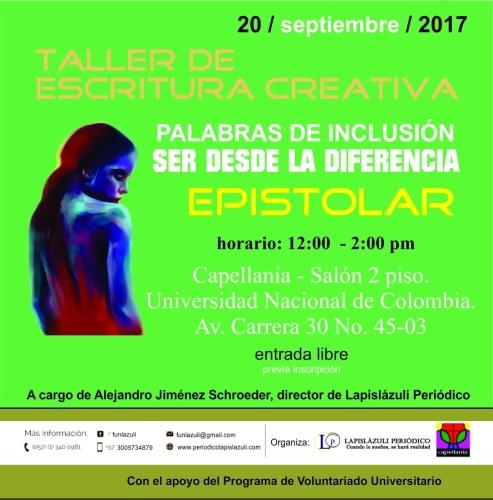 Abiertas Inscripciones para Taller Palabras de Inclusión: Ser Desde la Diferencia