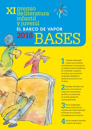 """XI Premio de Literatura Infantil y Juvenil """"El barco de vapor"""" 2018"""