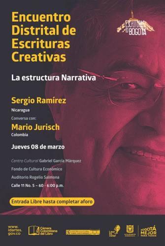 Sergio Ramírez conversará con Mario Jurisch en el Encuentro Distrital de Escrituras Creativa