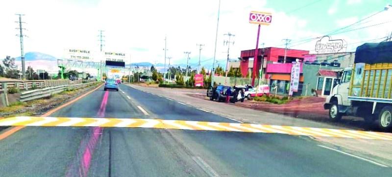 Recientemente fue balizado el tope que está en la entrada a Tulancingo, enfrente del Hospital General de Tulancingo, acción que es agradecida por los automovilistas que circulan por esa vialidad federal.