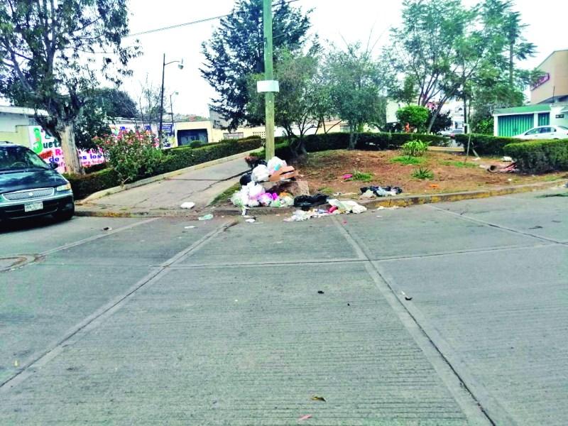 La situación que está pasando la Dirección de Limpia, con varios camiones descompuestos, comienza a notarse ya en algunas calles cercanas al centro, donde se observr durante el día, montones de basura regada.
