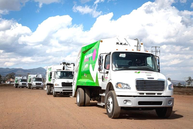 Las cuatro nuevas unidades para la recolección de basura.