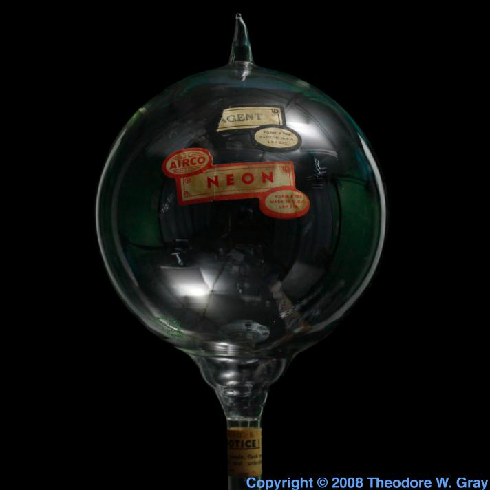 Neon Antique reagent flask