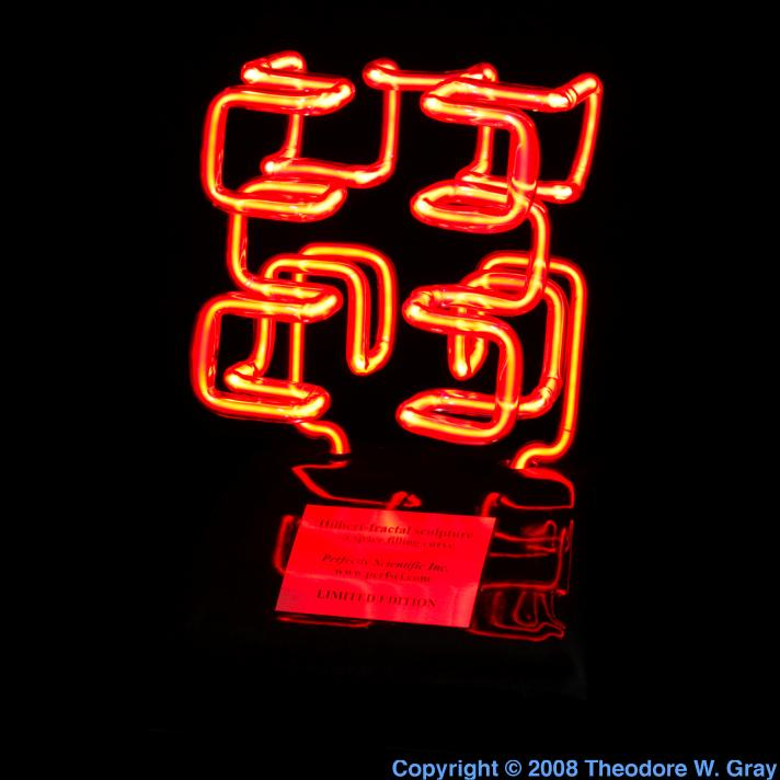 Neon Neon fractal sculpture