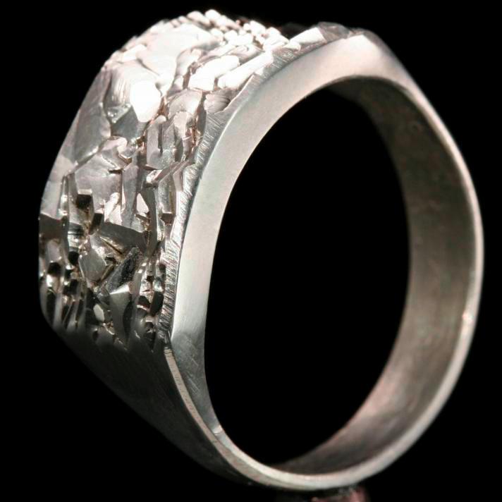 Titanium Crystal ring