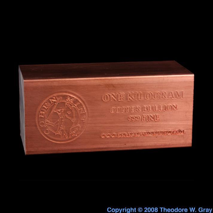 Copper 1kg copper ingot