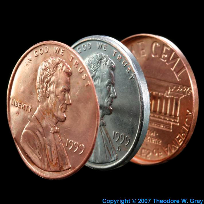 Zinc Split penny