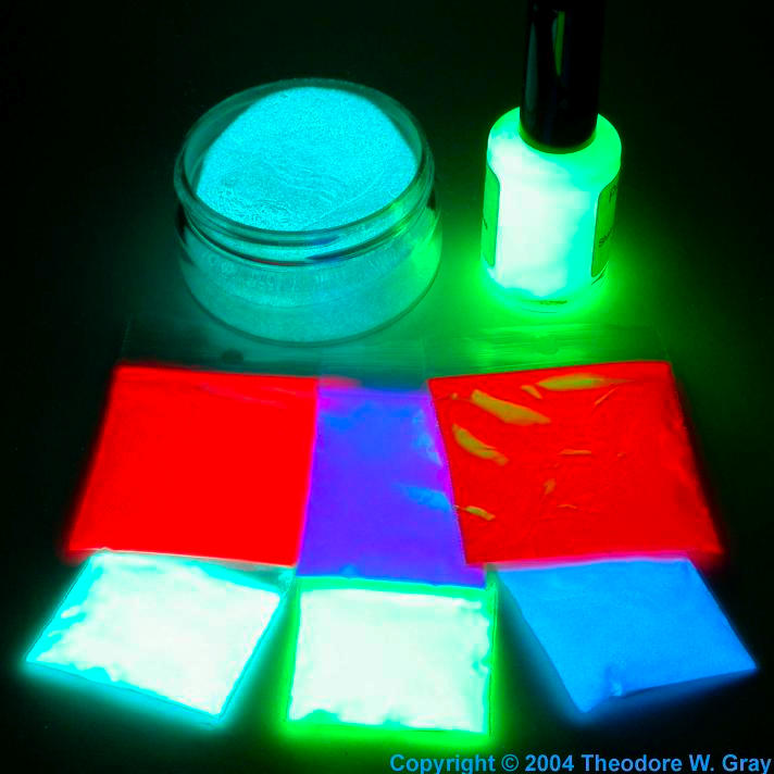 Strontium Assorted glow-in-the-dark paints