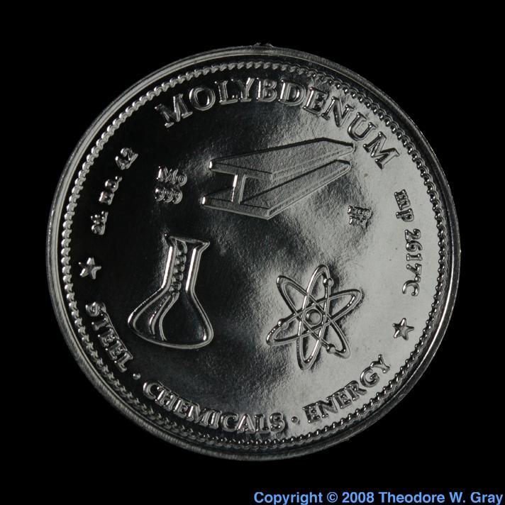 Molybdenum Molybdenum commemorative medallion