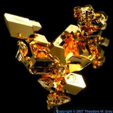 Gold Vapor deposited crystal
