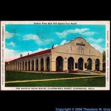 Radon Radium bath house postcard