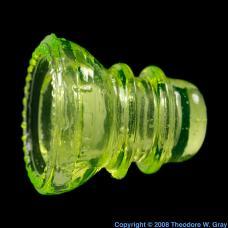Uranium Uranium glass insulator