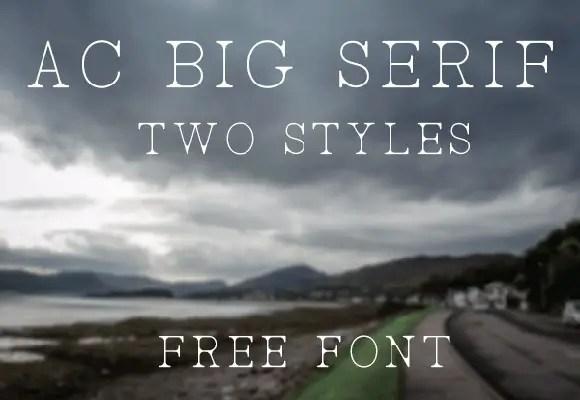 AC-Big-Serif-free-font