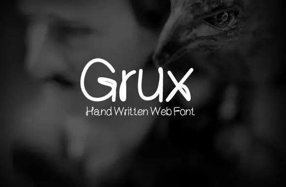 Grux-–-Free-handwritten-font